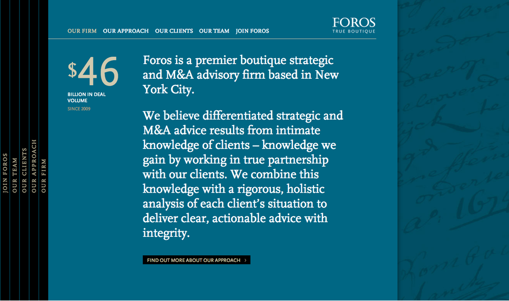 Project image 1 for Website, Foros