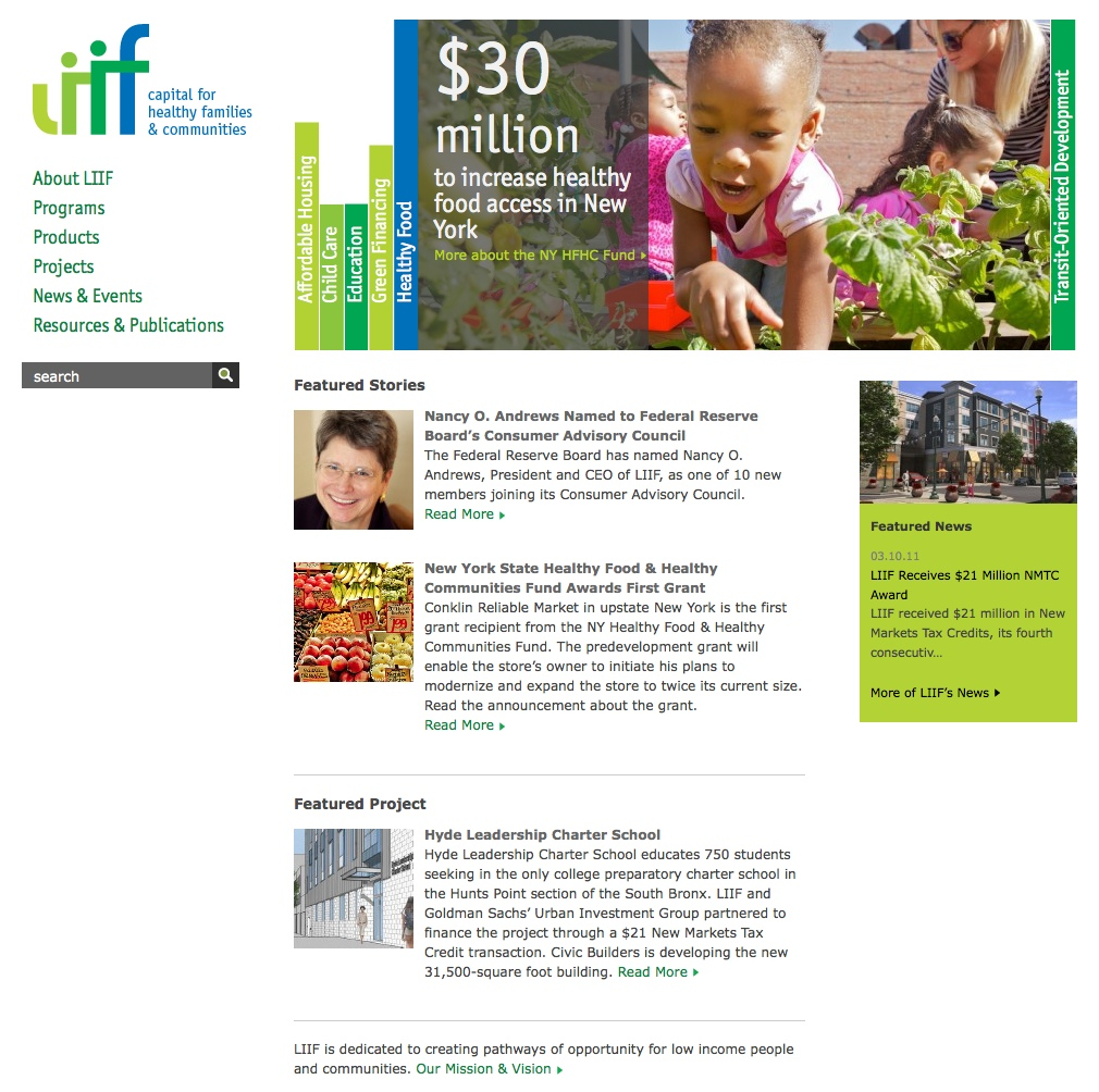 Project image 1 for Website, Low Income Investment Fund