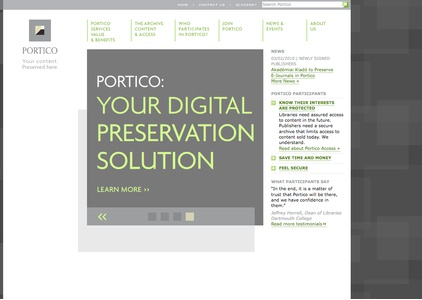 Project image 1 for Website, Portico