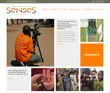 Project image 1 for Website, Senses Cultural