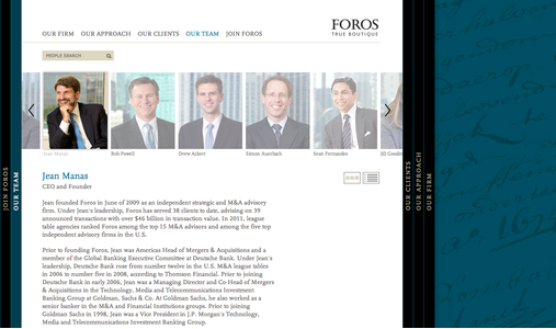 Project image 2 for Website, Foros