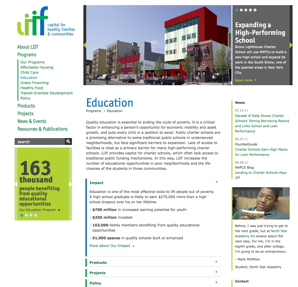 Project image 2 for Website, Low Income Investment Fund