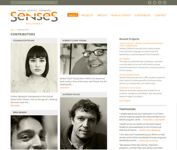 Project image 2 for Website, Senses Cultural