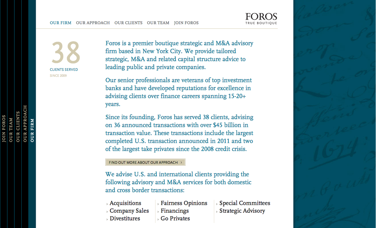 Project image 3 for Website, Foros