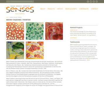 Project image 3 for Website, Senses Cultural