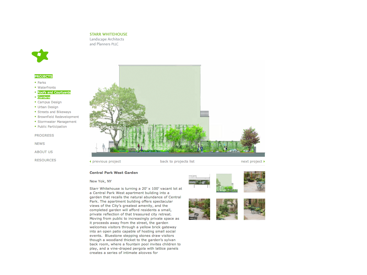 Project image 3 for Website, Starr Whitehouse