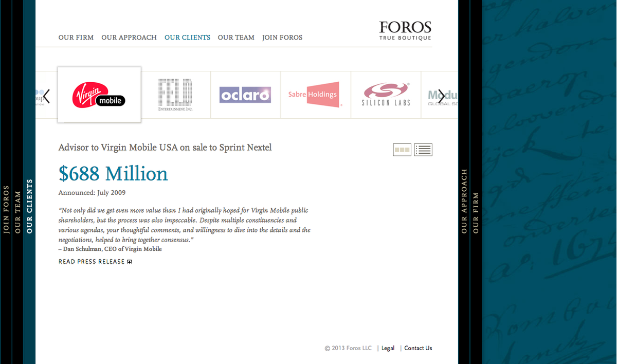 Project image 4 for Website, Foros