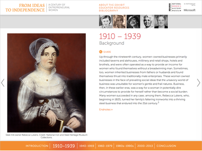 Project image 4 for From Ideas to Independence: A Century of Entrepreneurial Women, National Women's History Museum