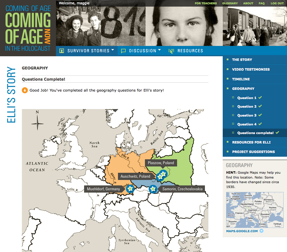 Project image 6 for Coming of Age in the Holocaust, Coming of Age Now Website, Museum of Jewish Heritage