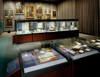 "New York University, Bobst Library, ""Treasures of the University"" Exhibit"