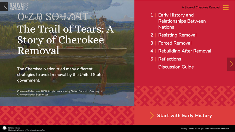 Web design for National Museum of the American Indian