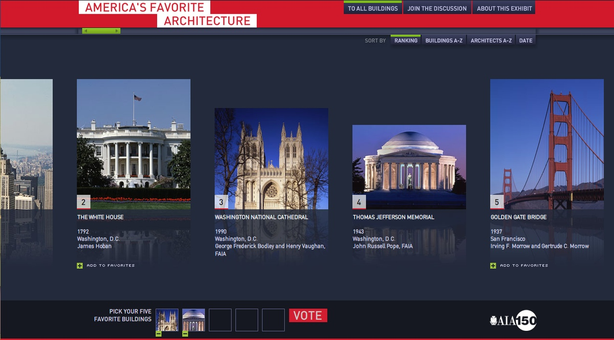 Project image 1 for favoritearchitecture.org, American Institute of Architects