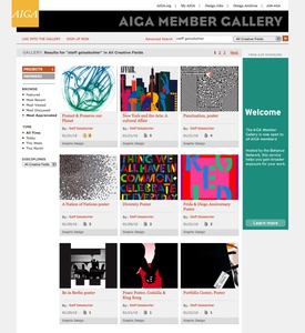 Project image 2 for Interactive Member Gallery, American Institute of Graphic Arts