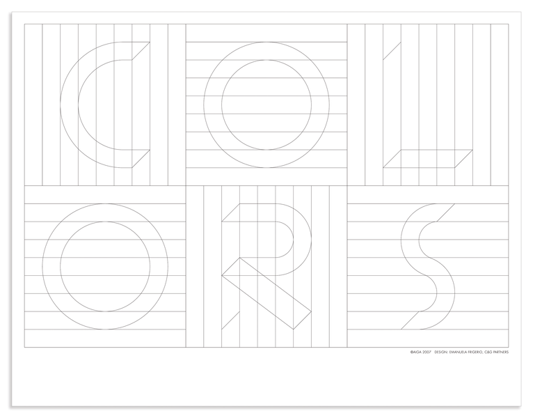 Project image 2 for Coloring Activity Poster, American Institute of Graphic Arts