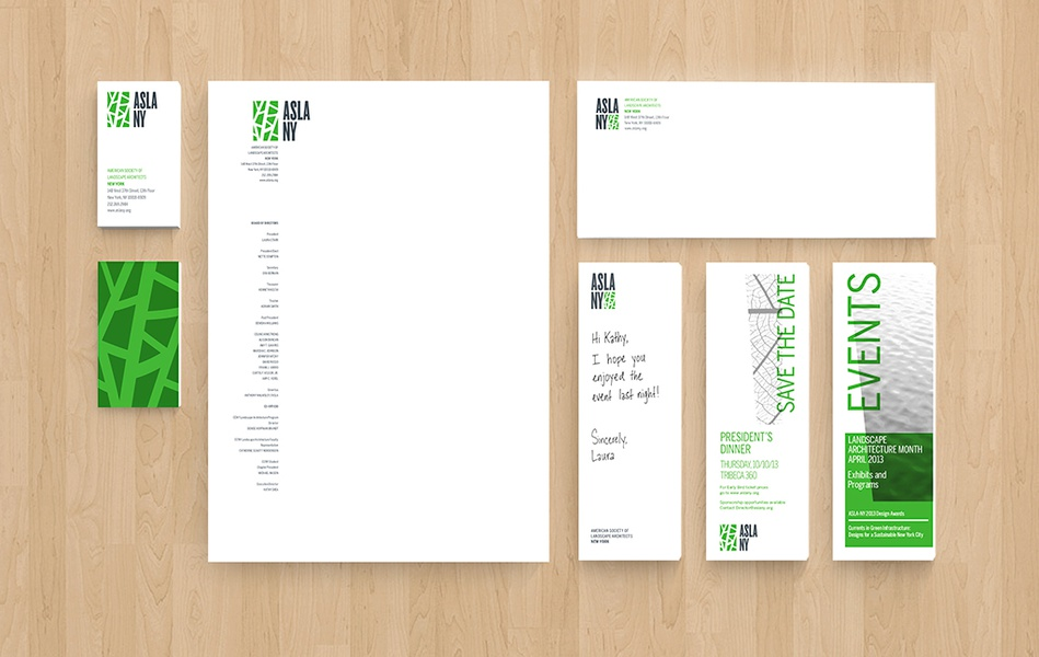 Project image 4 for Identity, American Society of Landscape Architects, NY Chapter