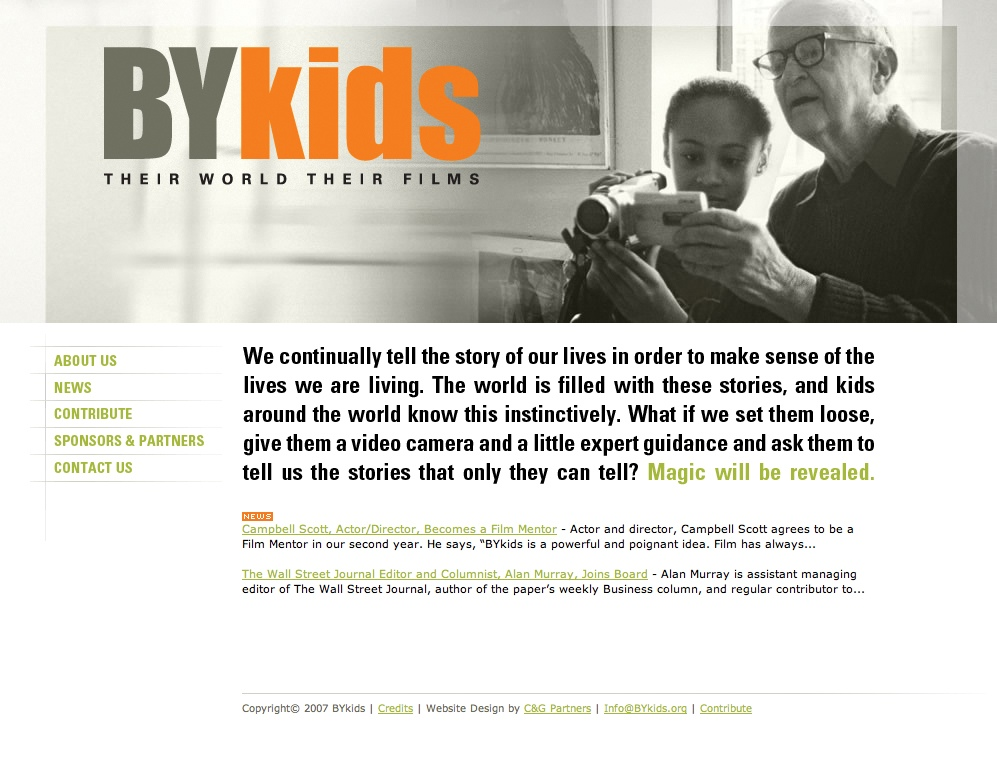Project image 1 for Website, BYkids