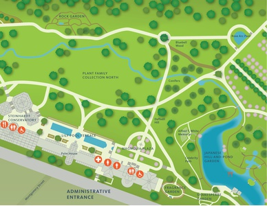 Project Image for Infographics, Brooklyn Botanic Garden Extreme Closeup