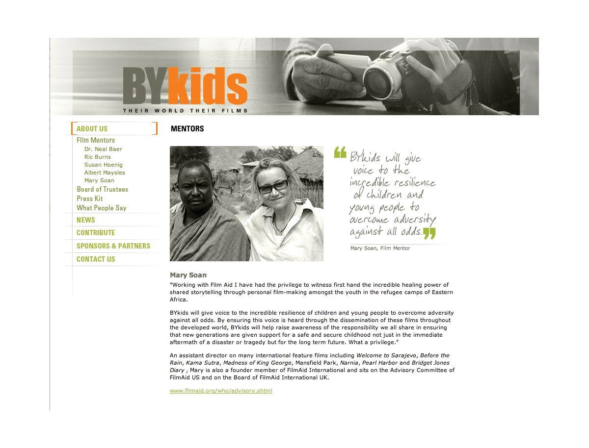Project image 2 for Website, BYkids