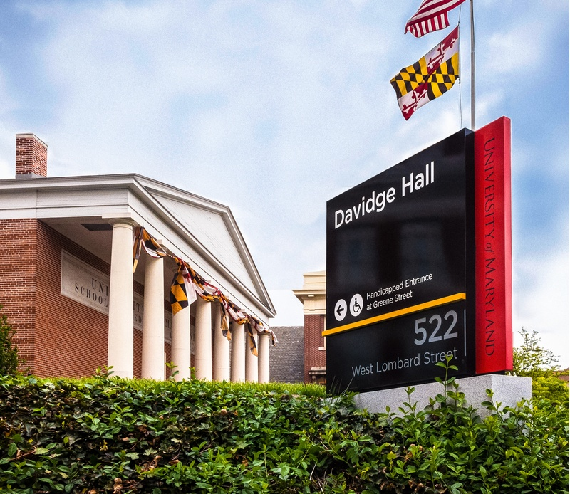 University of Maryland Signage