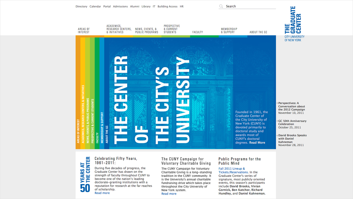 Project image 8 for The Graduate Center Website, City University of New York