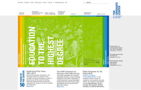 Project image 5 for The Graduate Center Website, City University of New York