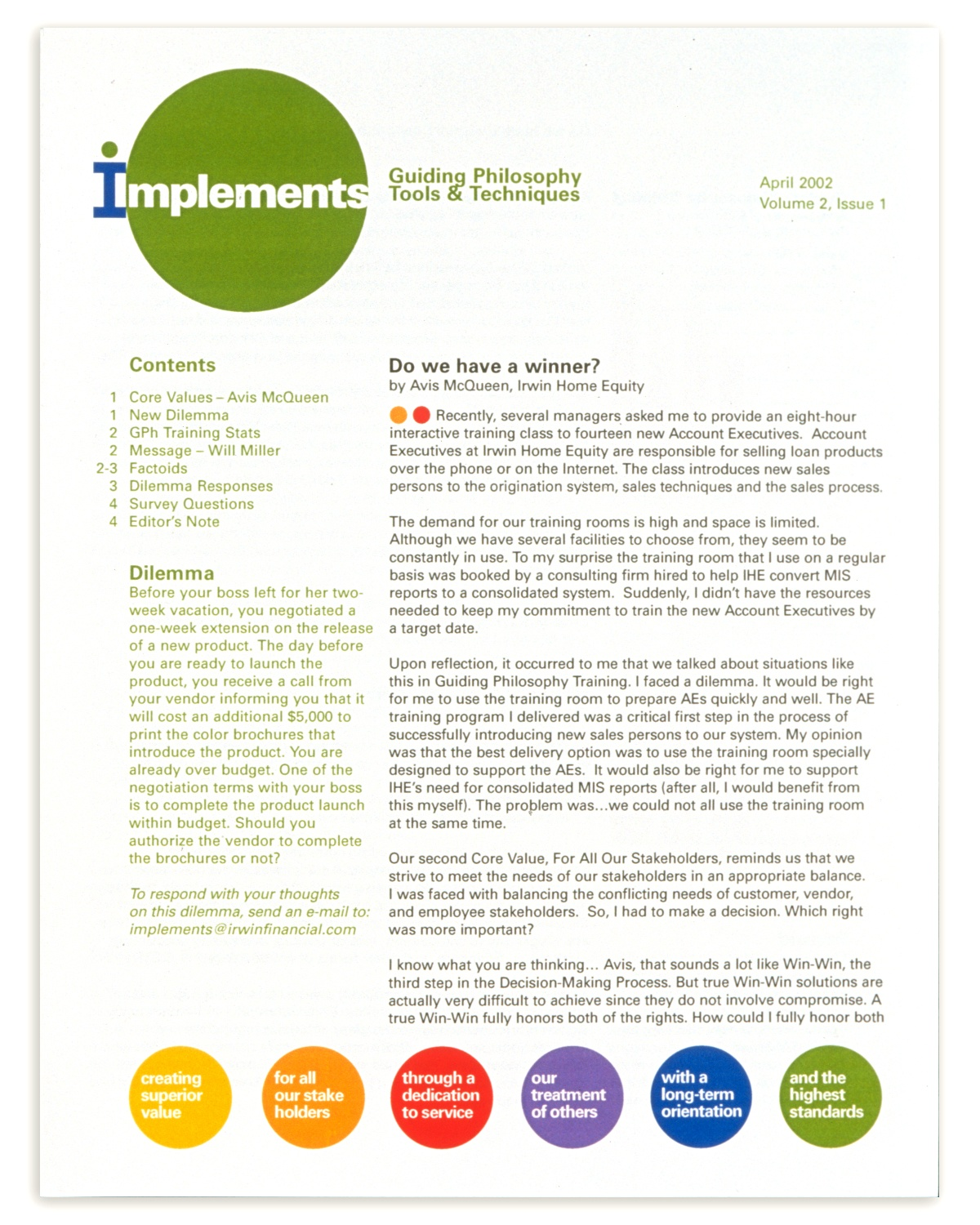 Project image 3 for Printed Materials & Annual Reports, Irwin Financial Corp.