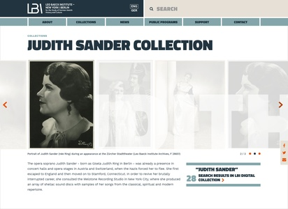 Website design for library archives