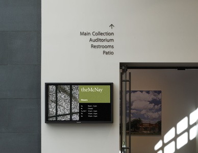 Project image 10 for Signage, McNay Art Museum
