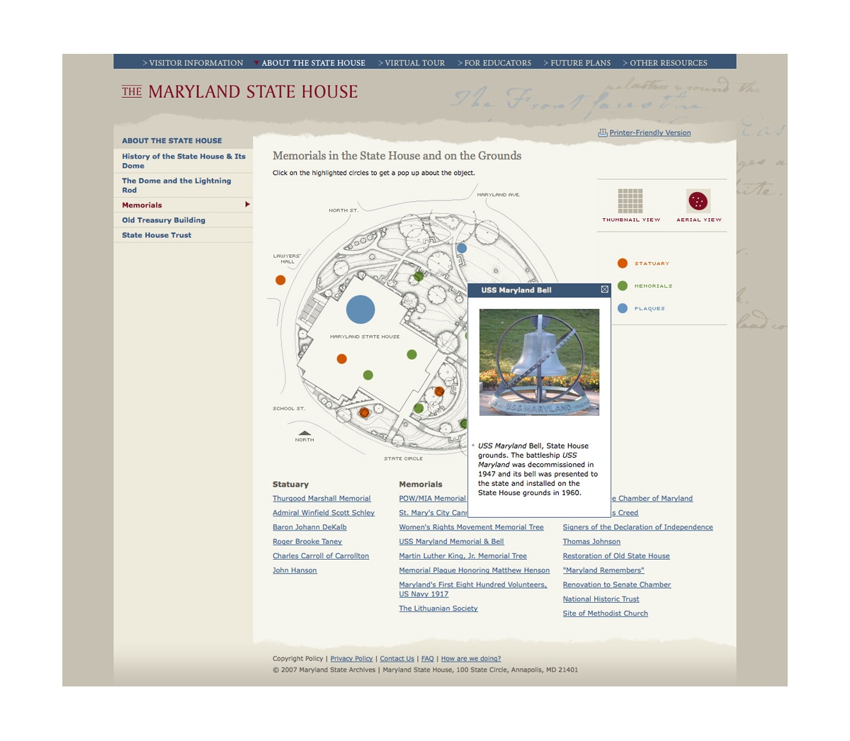 Project image 2 for Website, Maryland State House