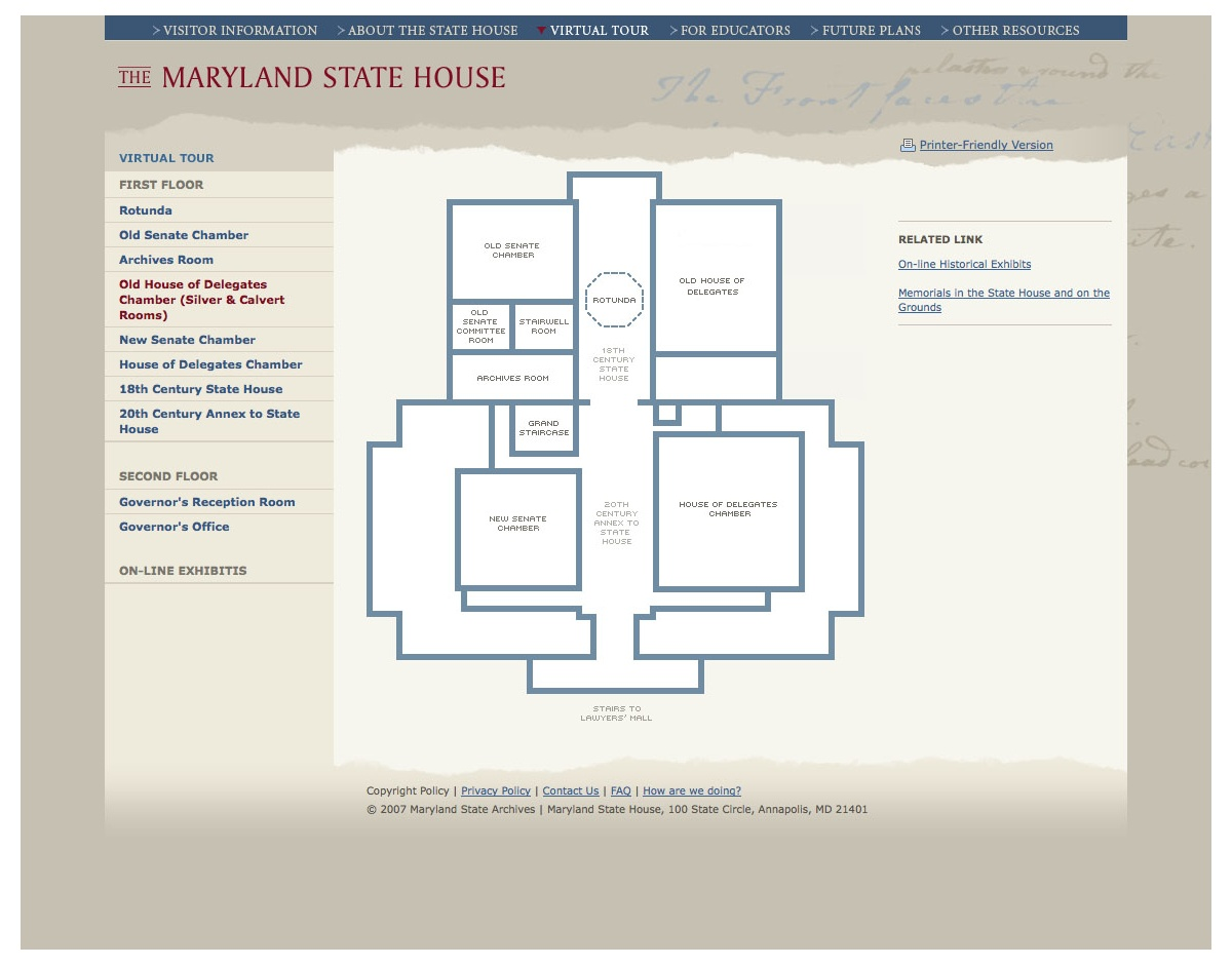 Project image 3 for Website, Maryland State House
