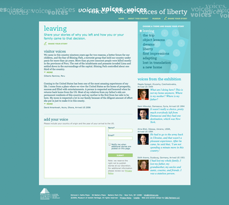Project image 3 for Voices of Liberty Interactive Experience, Museum of Jewish Heritage