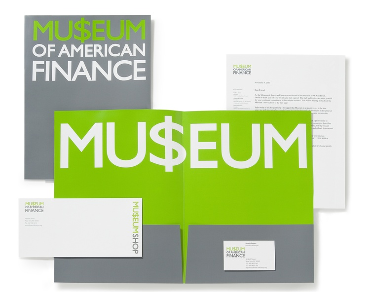 Project image 2 for Identity, Museum of American Finance