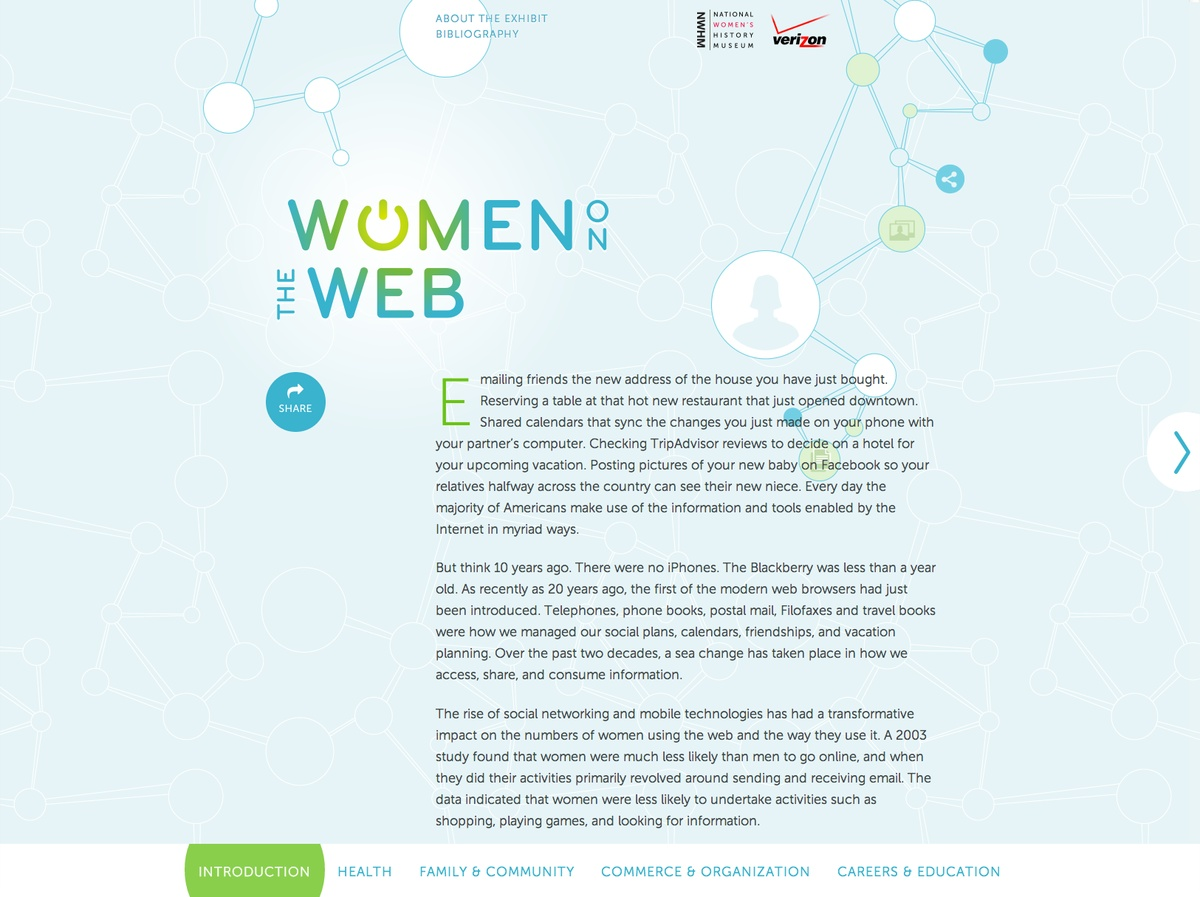 Project image 1 for Women on the Web, National Women's History Museum