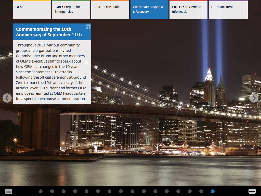 Project image 2 for 2011 Biennial Report, New York City Office of Emergency Management