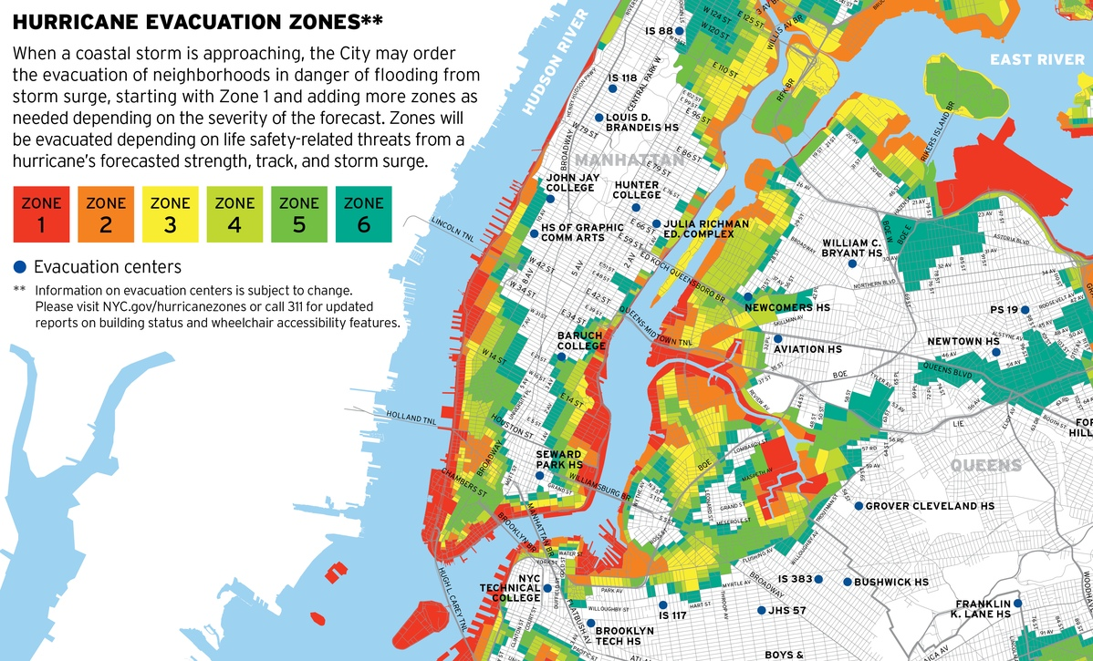 Project image 2 for Hurricane Map, New York City Office of Emergency Management