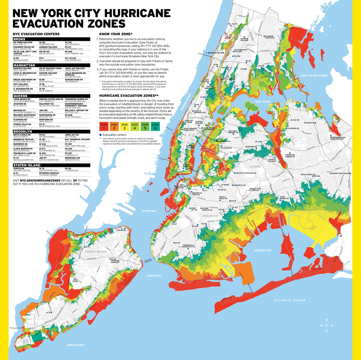 Project image 1 for Hurricane Map, New York City Office of Emergency Management