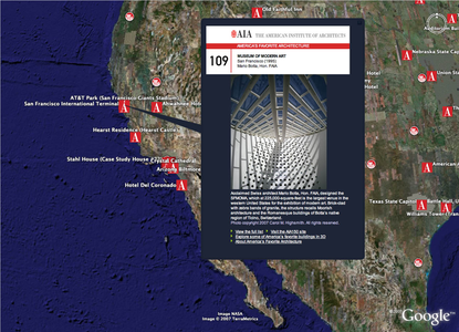 Project image 3 for Google Earth Layer, American Institute of Architects
