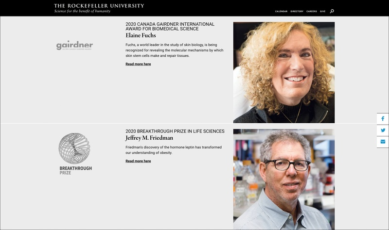 Rockefeller University Web Design