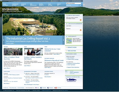 Project image 1 for Website, Riverkeeper