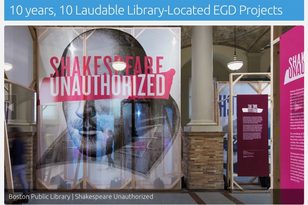 Shakespeare Unauthorized in SEGD's Top 10 Library List