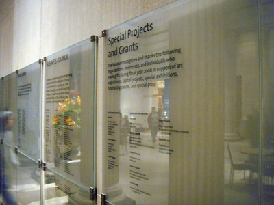Project image 6 for Signage, Toledo Museum of Art