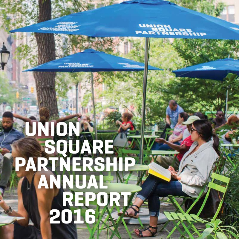 Union Square Partnership Annual Report Cover
